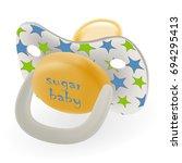 orthodontic baby s dummy. child ... | Shutterstock .eps vector #694295413