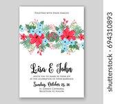 wedding invitation floral card... | Shutterstock .eps vector #694310893