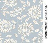 seamless floral pattern in folk ... | Shutterstock .eps vector #694316737