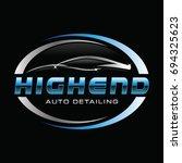 car auto detail logo symbol  | Shutterstock .eps vector #694325623