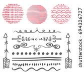 set of decorative elements.... | Shutterstock .eps vector #694326727