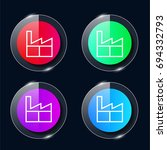 factory four color glass button ...