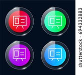 presentation four color glass...