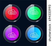 computing cloud four color...