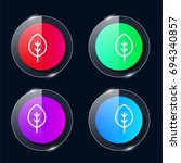 leaf four color glass button ui ...