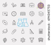 education line icon set | Shutterstock .eps vector #694345753