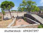 the venetian castle of... | Shutterstock . vector #694347397
