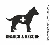 search and rescue dog icon | Shutterstock .eps vector #694350247