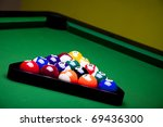 pool game balls against a green | Shutterstock . vector #69436300