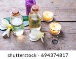 natural organic cosmetics.... | Shutterstock . vector #694374817