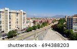 Panorama Of Scampia District...