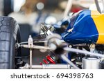 looking down the exhaust of a... | Shutterstock . vector #694398763
