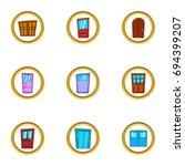 doorway icons set. cartoon set... | Shutterstock .eps vector #694399207