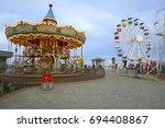 tibidabo amusement park | Shutterstock . vector #694408867