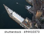 aerial view of downtown... | Shutterstock . vector #694410373