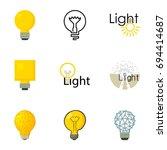 light bulb logo icons set.... | Shutterstock .eps vector #694414687