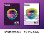 electronic music poster. modern ... | Shutterstock .eps vector #694425337