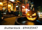 the concept of halloween.... | Shutterstock . vector #694435447