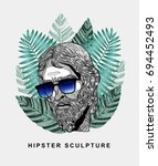 hipster classical jesus... | Shutterstock .eps vector #694452493