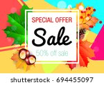 autumn. sale. | Shutterstock .eps vector #694455097