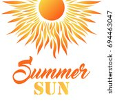 Summer Card With Sun And Text....