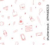 female hygiene seamless pattern ...   Shutterstock .eps vector #694468213