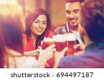 leisure  drinks  celebration ... | Shutterstock . vector #694497187