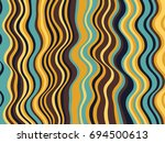 creative stripes wave ripple... | Shutterstock .eps vector #694500613