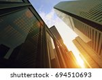 skyline of the financial... | Shutterstock . vector #694510693