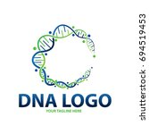 dna circle logo | Shutterstock .eps vector #694519453