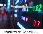 stock market price display in... | Shutterstock . vector #694541017