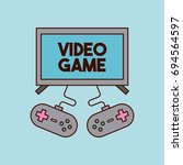 video games classic console | Shutterstock .eps vector #694564597