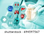 medical technology concept... | Shutterstock . vector #694597567