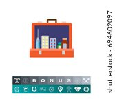 open first aid kit icon | Shutterstock .eps vector #694602097