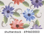 abstract home decorative flower ... | Shutterstock . vector #694603003