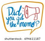 word phrase for did you get the ... | Shutterstock .eps vector #694611187