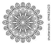 mandala. black and white... | Shutterstock .eps vector #694631623