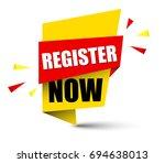 banner register now   Shutterstock .eps vector #694638013