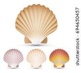 scallop seashell beauty exotic... | Shutterstock . vector #694650457
