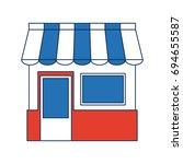 shopping store market... | Shutterstock .eps vector #694655587