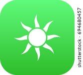 isolated sun icon symbol on... | Shutterstock .eps vector #694680457