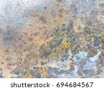 rust or oxidize of metal plate...   Shutterstock . vector #694684567