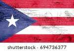 puerto rico flag with grunge...   Shutterstock . vector #694736377