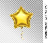 golden foil star shape vector... | Shutterstock .eps vector #694751497