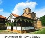orthodox monastery  macedonia ... | Shutterstock . vector #694768027