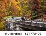 smoky mountain motorcycle... | Shutterstock . vector #694770403