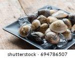 fresh enamel venus shell ... | Shutterstock . vector #694786507