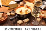 cheese fondue | Shutterstock . vector #694786567
