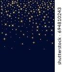 starburst vector  gold stars... | Shutterstock .eps vector #694810243