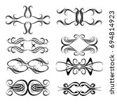 decorative monograms and... | Shutterstock .eps vector #694814923